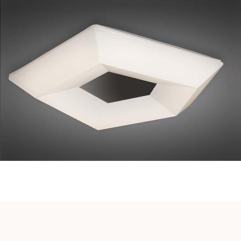 City Ceiling 28W LED Large 3000K, 2800lm, Polished Chrome/White Acrylic