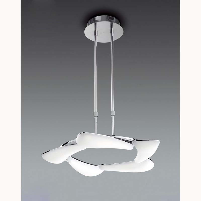 Mistral Telescopic 30W LED Round 3000K, 2700lm, Polished Chrome/Frosted Acrylic