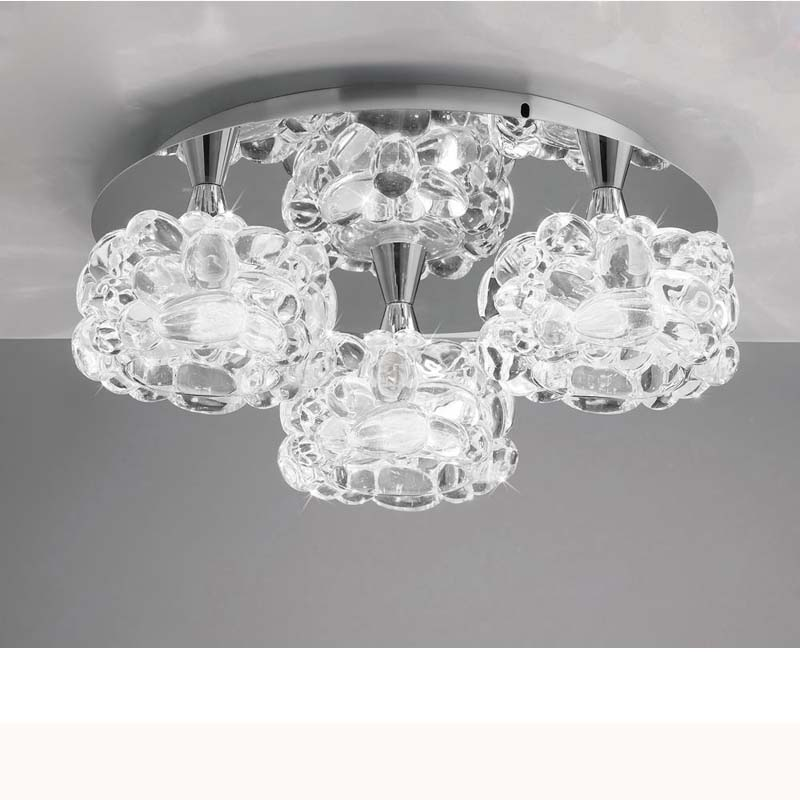 Mantra M3925 O2 Ceiling 3 Light G9 Small, Polished Chrome