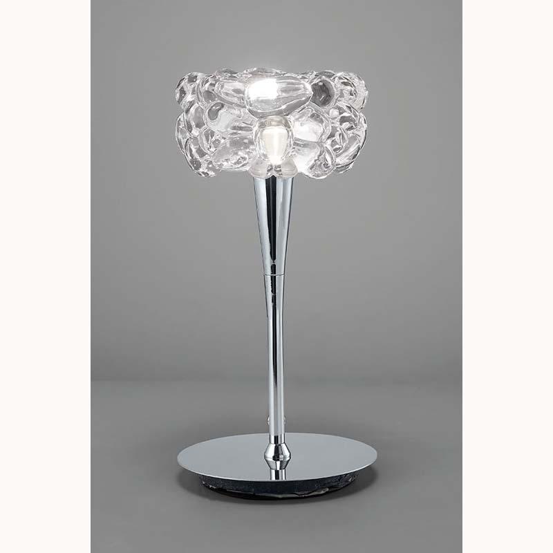 O2 Range Polished Chrome 1 Light Table Lamp
