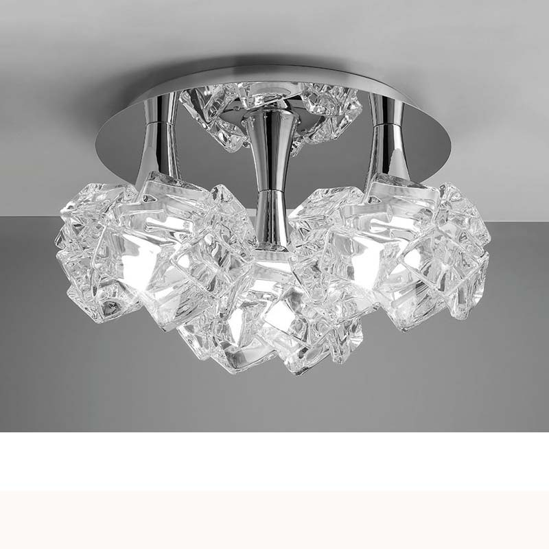 Mantra M3965 Artic Ceiling 3 Light E27 Round Large, Polished Chrome