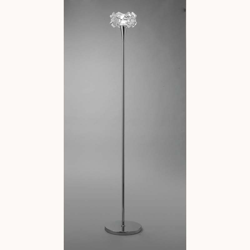 Mantra M3969 Artic Floor Lamp 1 Light E27, Polished Chrome