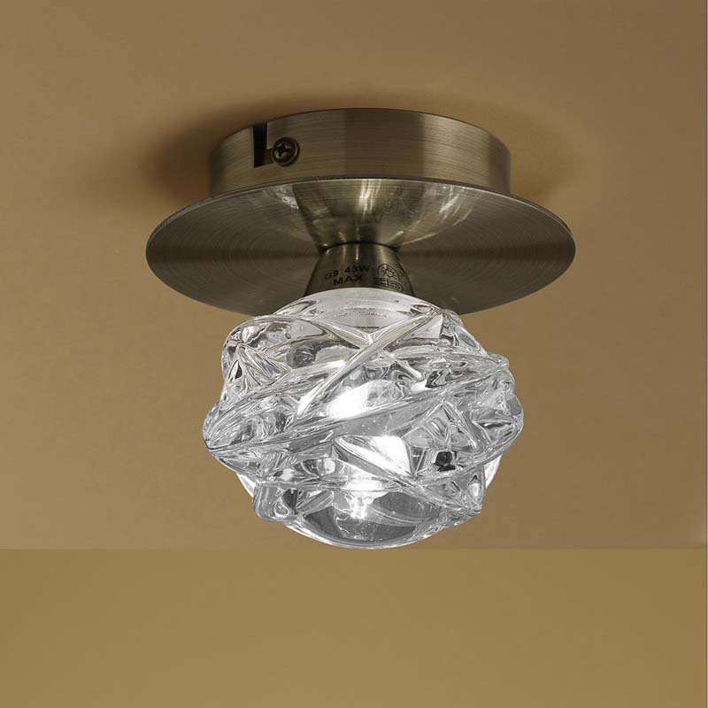 Mantra M4075 Maremagnum Ceiling 1 Light G9, Antique Brass