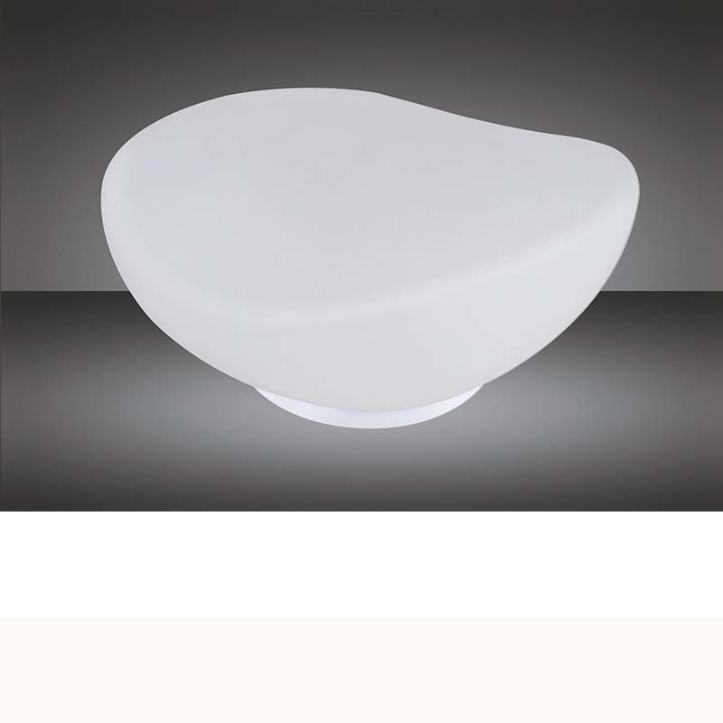 White Frosted Glass 1 Light Table Lamp
