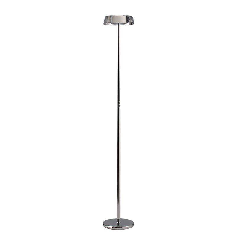 Noa Floor Lamp 2 Light 21W Down 9W Up LED 3000K, 3000lm, Polished Chrome