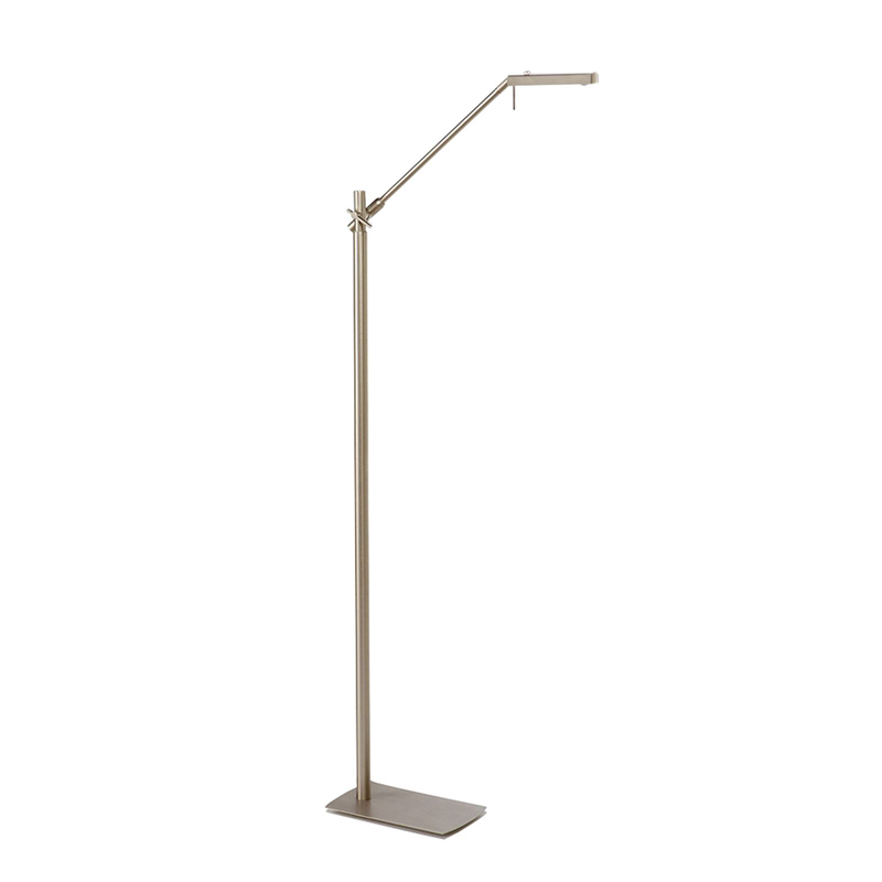Phuket Floor Lamp 1 Light 7W LED 3000K, 600lm, Satin Nickel, 3yrs Warranty