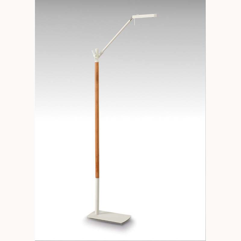 Phuket Floor Lamp 1 Light 7W LED 3000K, 600lm, Matt White/Beech, 3yrs Warranty