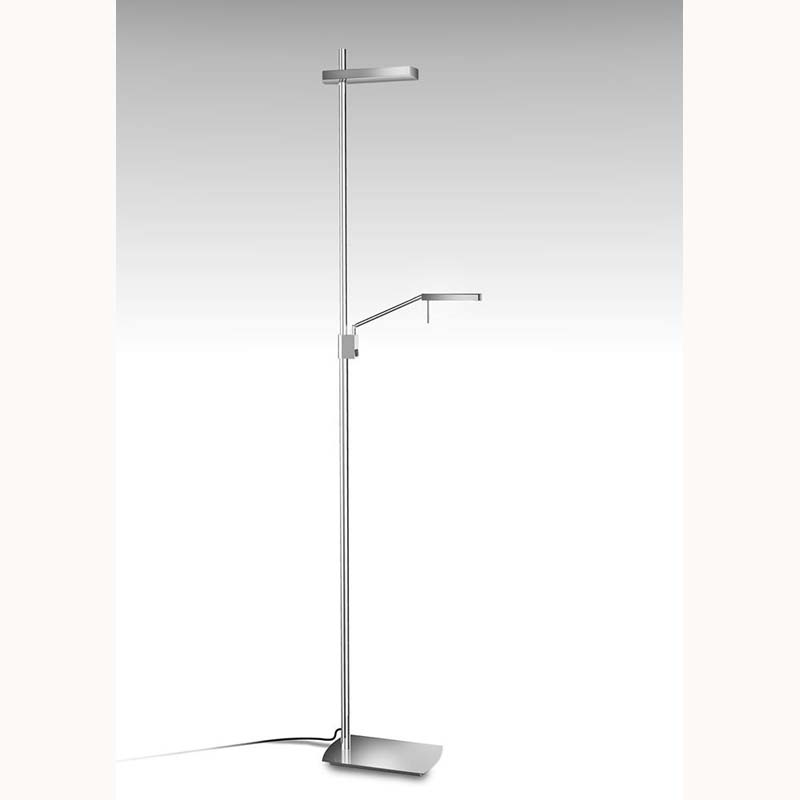 Phuket Floor Lamp 2 Light 21W Down 7W Up LED 3000K, 3000lm, Polished Chrome