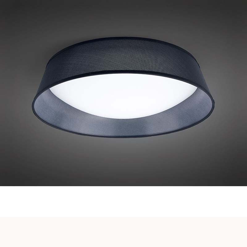 Nordica Ceiling 30W LED 60CM Black 3000K, White Acrylic With Black Shade