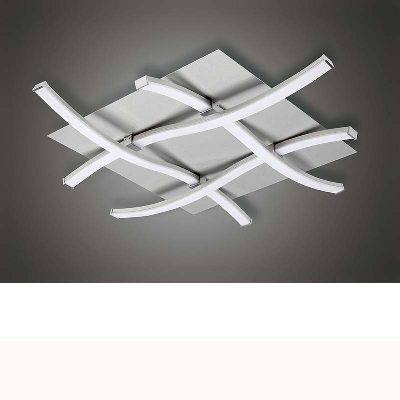 Nur Ceiling 34W LED 3000K, 2600lm, Silver/Frosted Acrylic/Polished Chrome