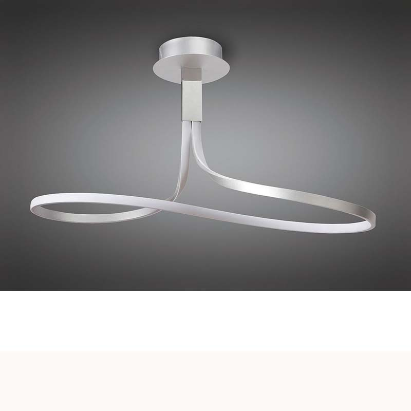 Nur Semi Ceiling 40W LED 3000K, Dimmable Silver/Frosted Acrylic/Polished Chrome