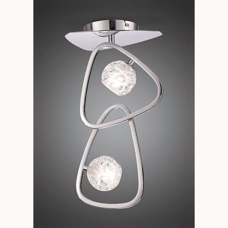 Mantra M5015 Lux Ceiling 2 Light G9, Polished Chrome