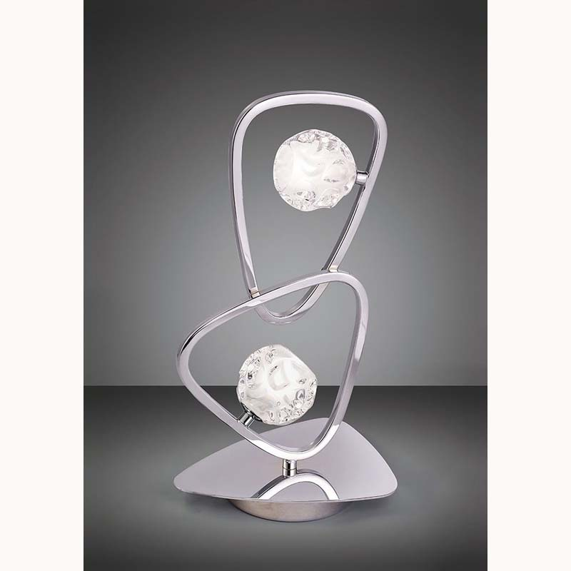 Lux 2 Light Polished Chrome Table Lamp
