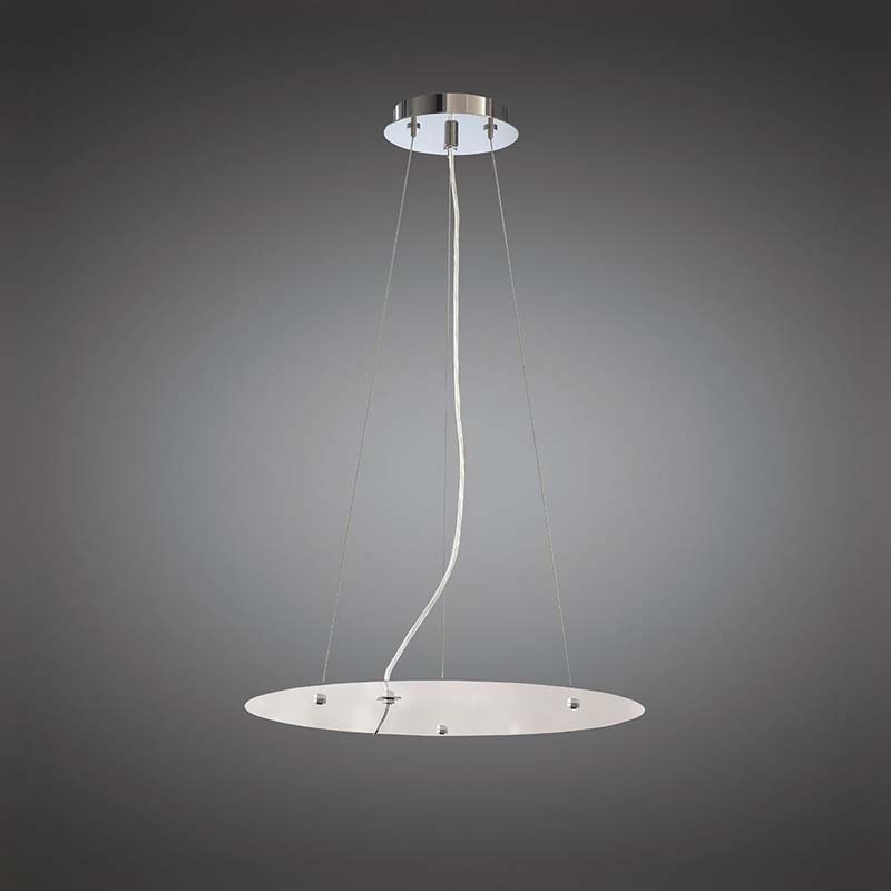 Mantra M5032 Nordica Pendant Kit 59CM, Polished Chrome/White Acrylic
