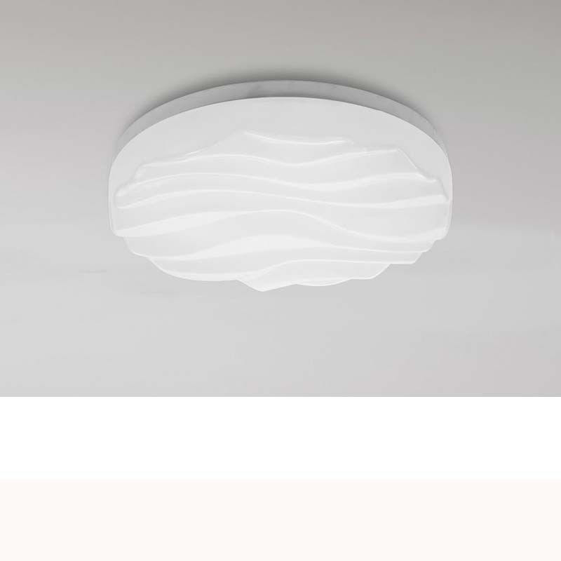 Arena White Acrylic LED Ceiling/Wall Light Small Round