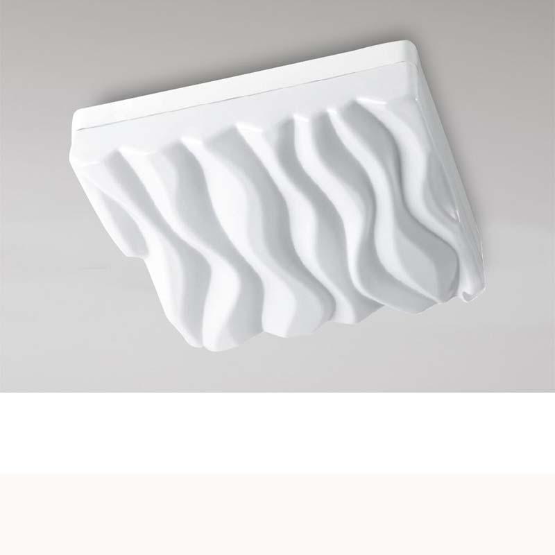 Arena White Acrylic LED Ceiling/Wall Light Medium Square