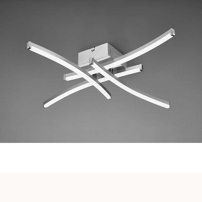 Surf Ceiling 26W LED Satin Nickel/Polished Chrome 3000K, 1800lm,, 3yrs Warranty