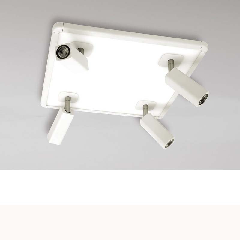 Ibiza 4 Light White Square Ceiling Spot Light