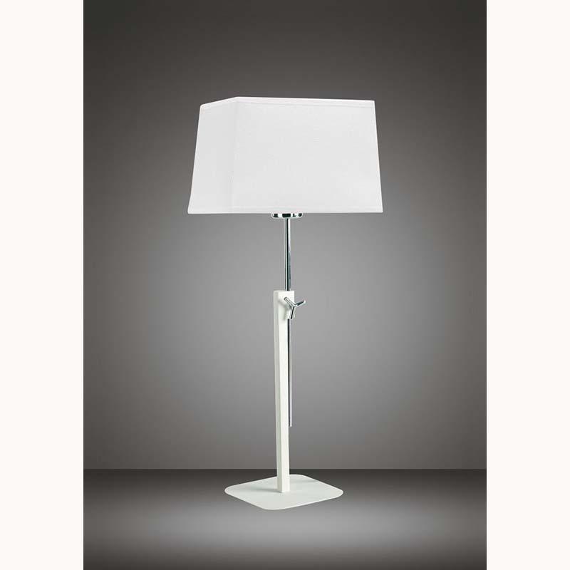 Habana Matt White Polished Chrome Table Lamp Without Shade