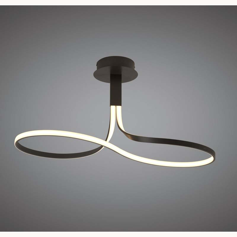 Nur Brown Oxide Semi Ceiling 40W LED 2800K, 3200lm, Frosted Acrylic/Brown Oxide