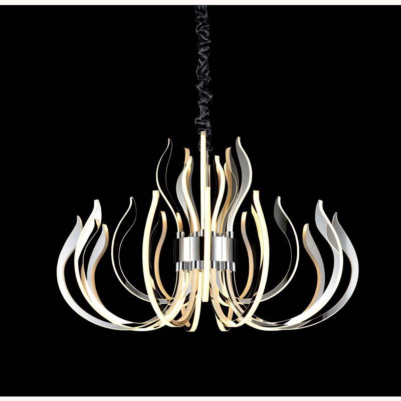 Versailles Ceiling LED Light 256W, 12339lm, 3000K Polished Chrome/White Acrylic