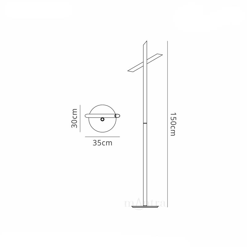 Simple Style LED White Coloured Floor Lamp Suitable For Bedroom, Living Room