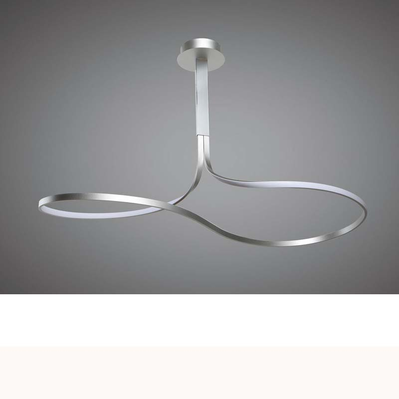 Nur XL Semi Ceiling 50W LED,Dimmable Silver/Frosted Acrylic/Polished Chrome
