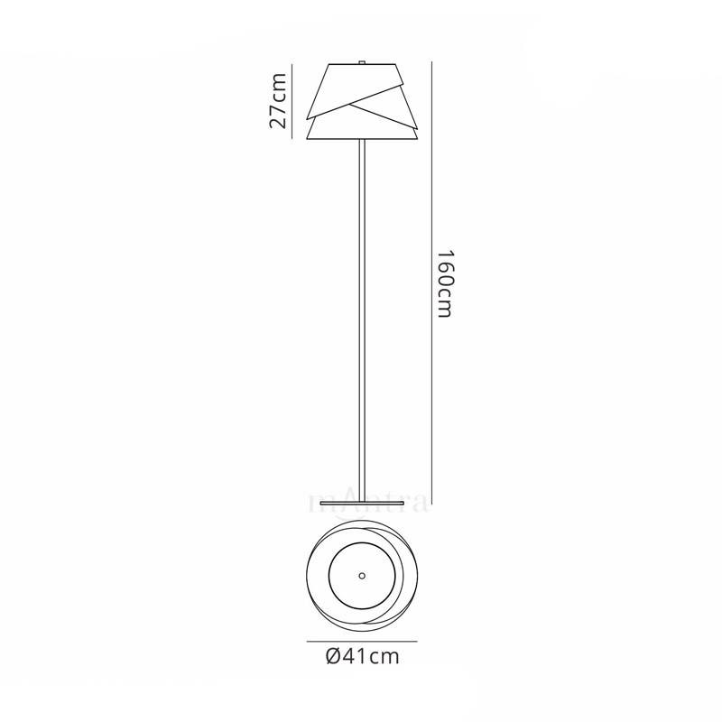 Designer Alboran 1 Light 40W, White Floor Lamp Construct Of Aluminium/Iron