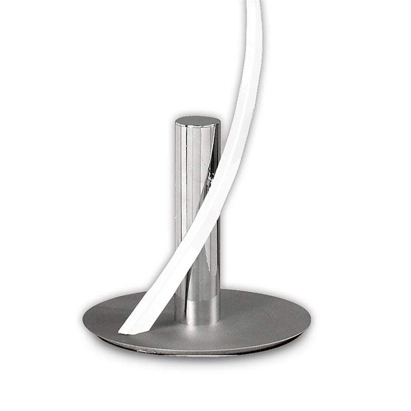 White & Chrome Helix 42W LED Floor Lamp Perfect For Bedroom, Living Room Decor