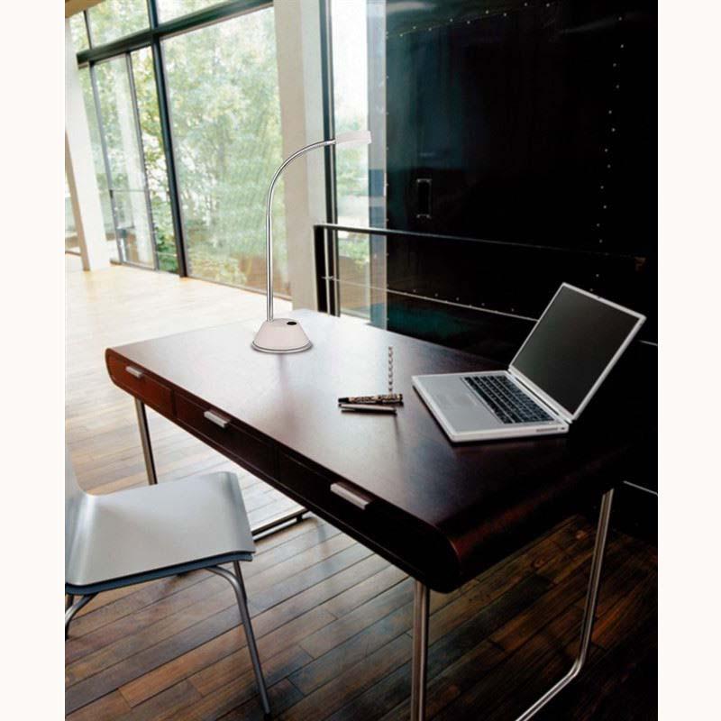 Tobias Black Chrome LED Table Lamp