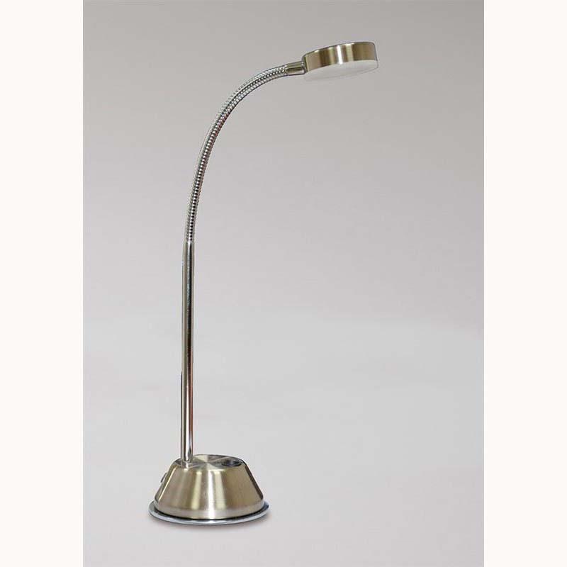 Tobias 1 Light Table Lamp Led 3W Satin Nickel/Chrome 3000K