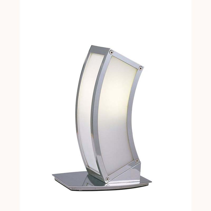 Modern Design Polished Chrome Table Lamp - Low Energy