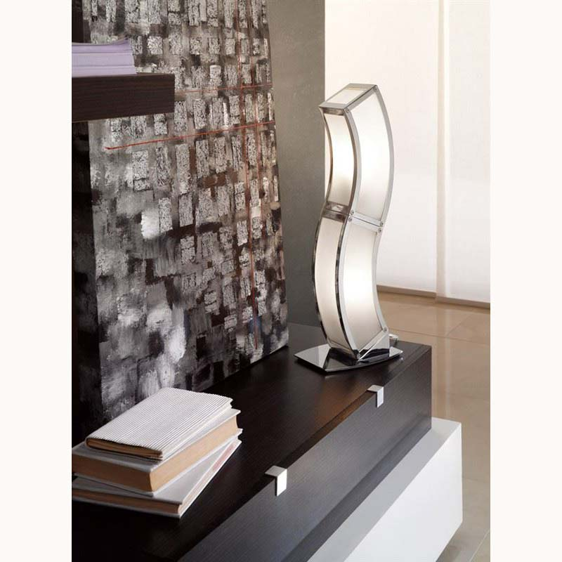 Table Lamp 2 Light Polished Chrome Low Energy - Modern Room Decor