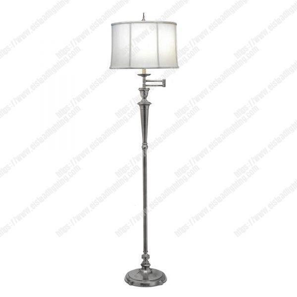 Arlington 1 Light Swing Arm Floor Lamp - Antique Nickel
