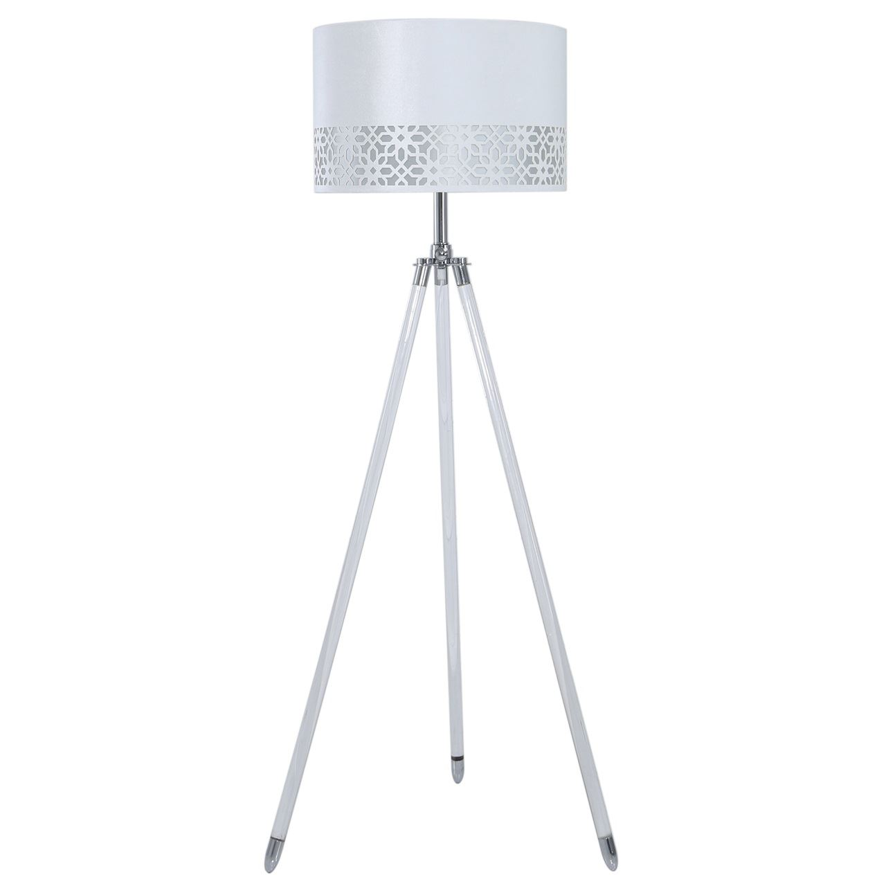 White Chrome Phillips 141cm Tripod Floor Lamps