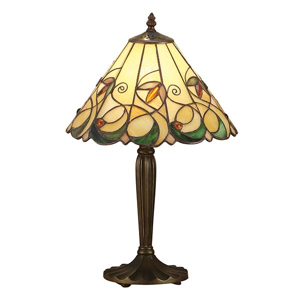 Jamelia Tiffany Style Small Table Lamp Stained Glass Shade