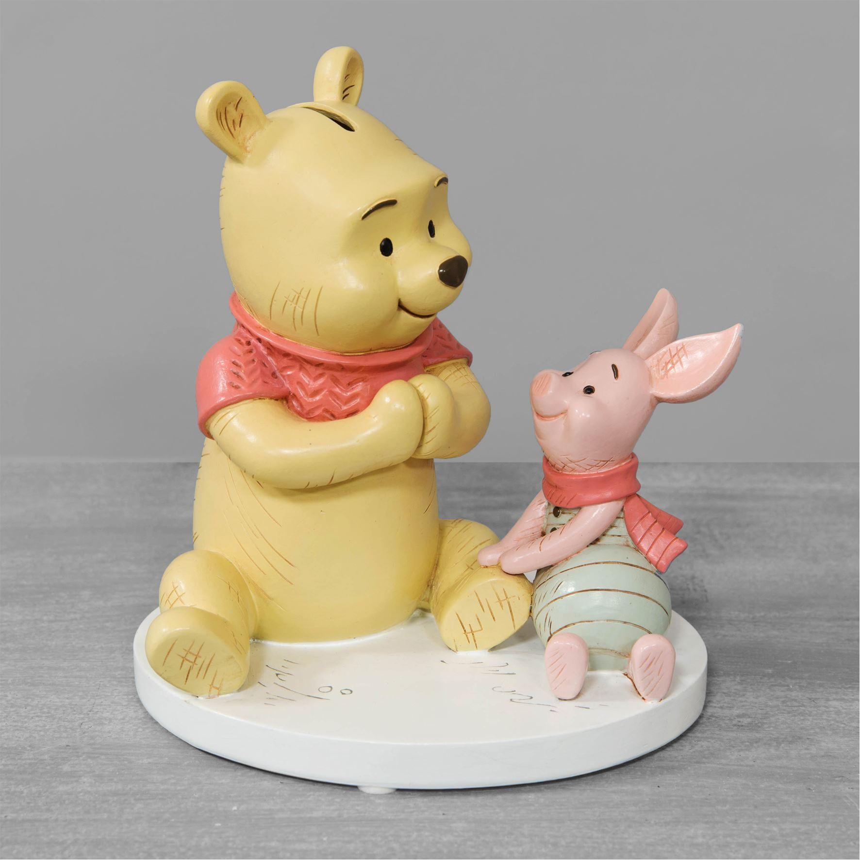 Disney Christopher Robin Resin Money Bank Winnie & Piglet