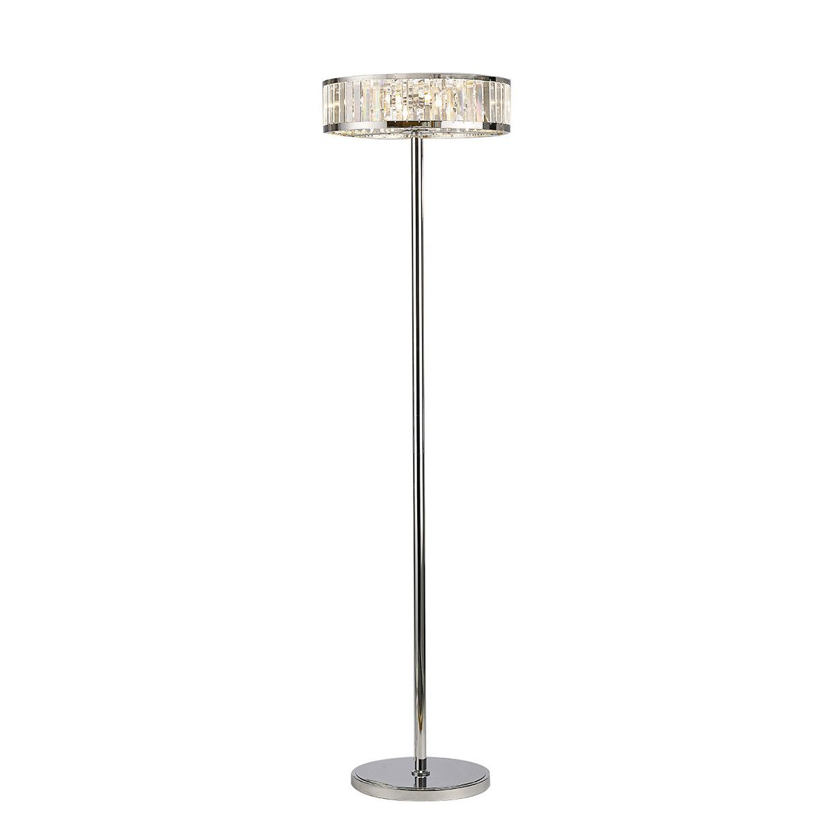 Diyas IL30177 Torre Floor Lamp 5 Light Polished Chrome/Crystal