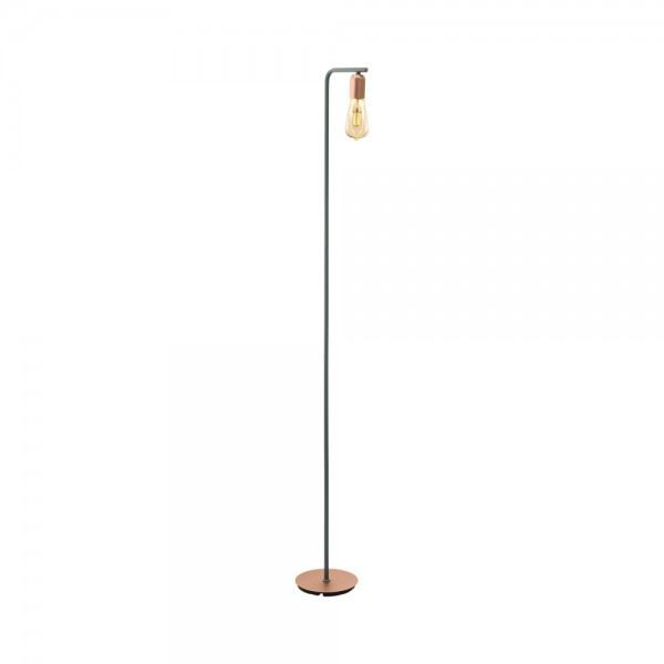 EGLO Adri Home Curva Rose Gold Floor Lamp For Any Room - Steel One Light E27