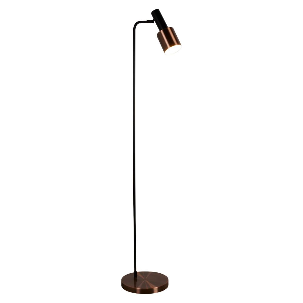 Searchlight DENMARK 1 LIGHT FLOOR LAMP, BLACK, ANTIQUE COPPER 3053CU - 3053CU