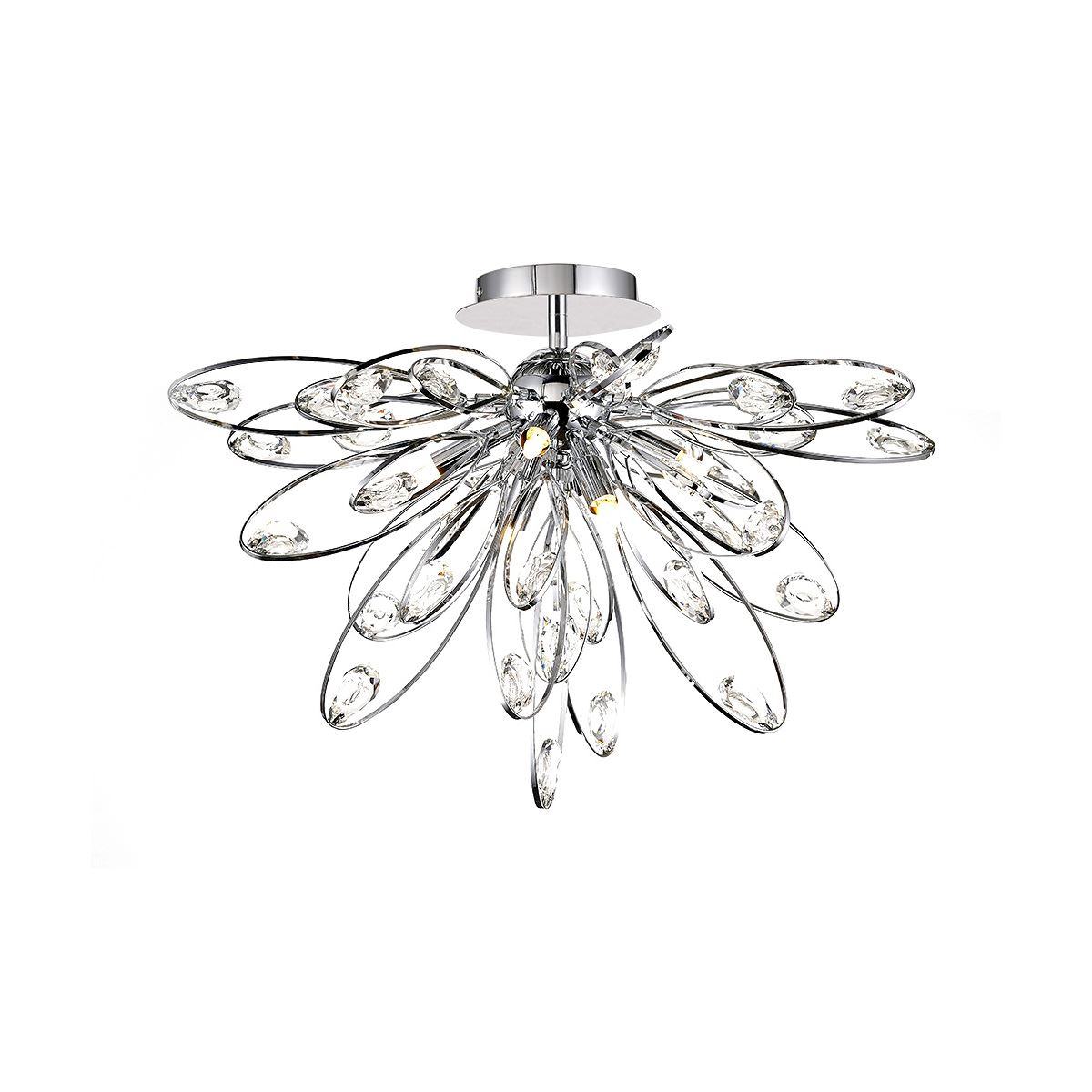 Diyas IL31645 Harlow Ceiling 6 Light G9 Polished Chrome/Crystal