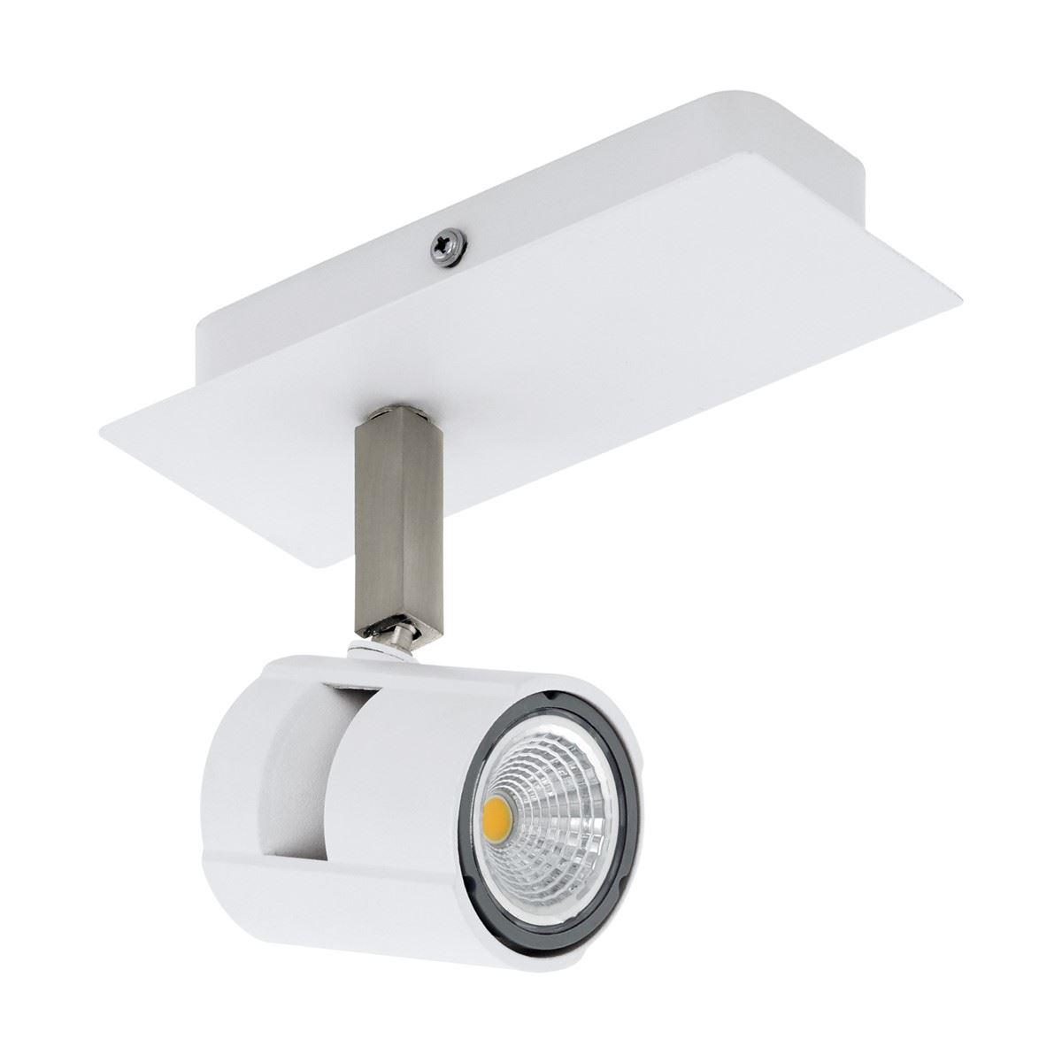 Vergiano Single Way Matt White & Nickel Round LED Ceiling Spotlight