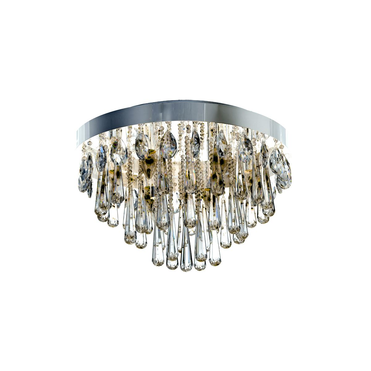 Diyas IL31433 Sophia Ceiling 10 Light E14 Polished Chrome/Crystal