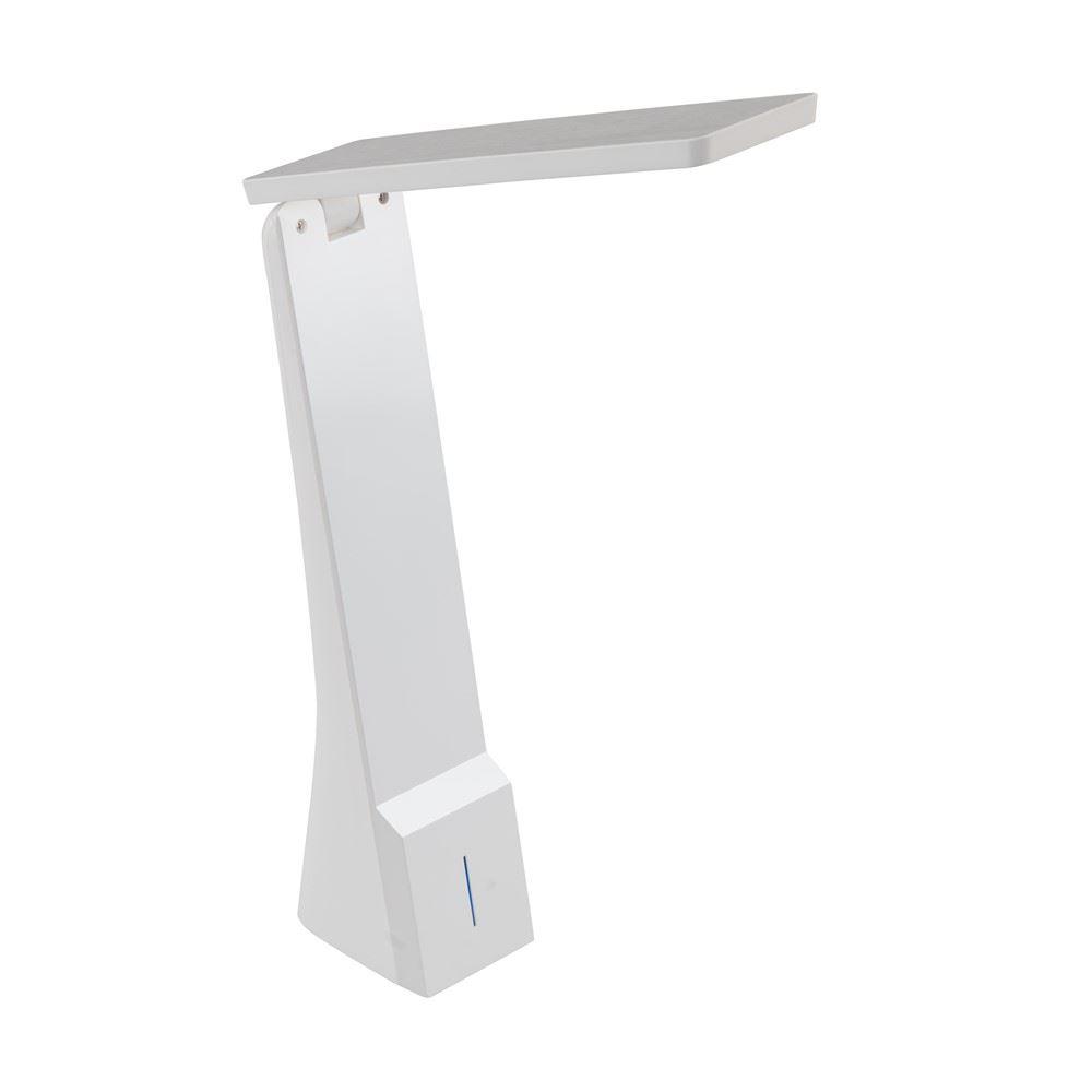 White Desk Table Lamp Light Home Office Study Reading Bedside Bulb Lighting New