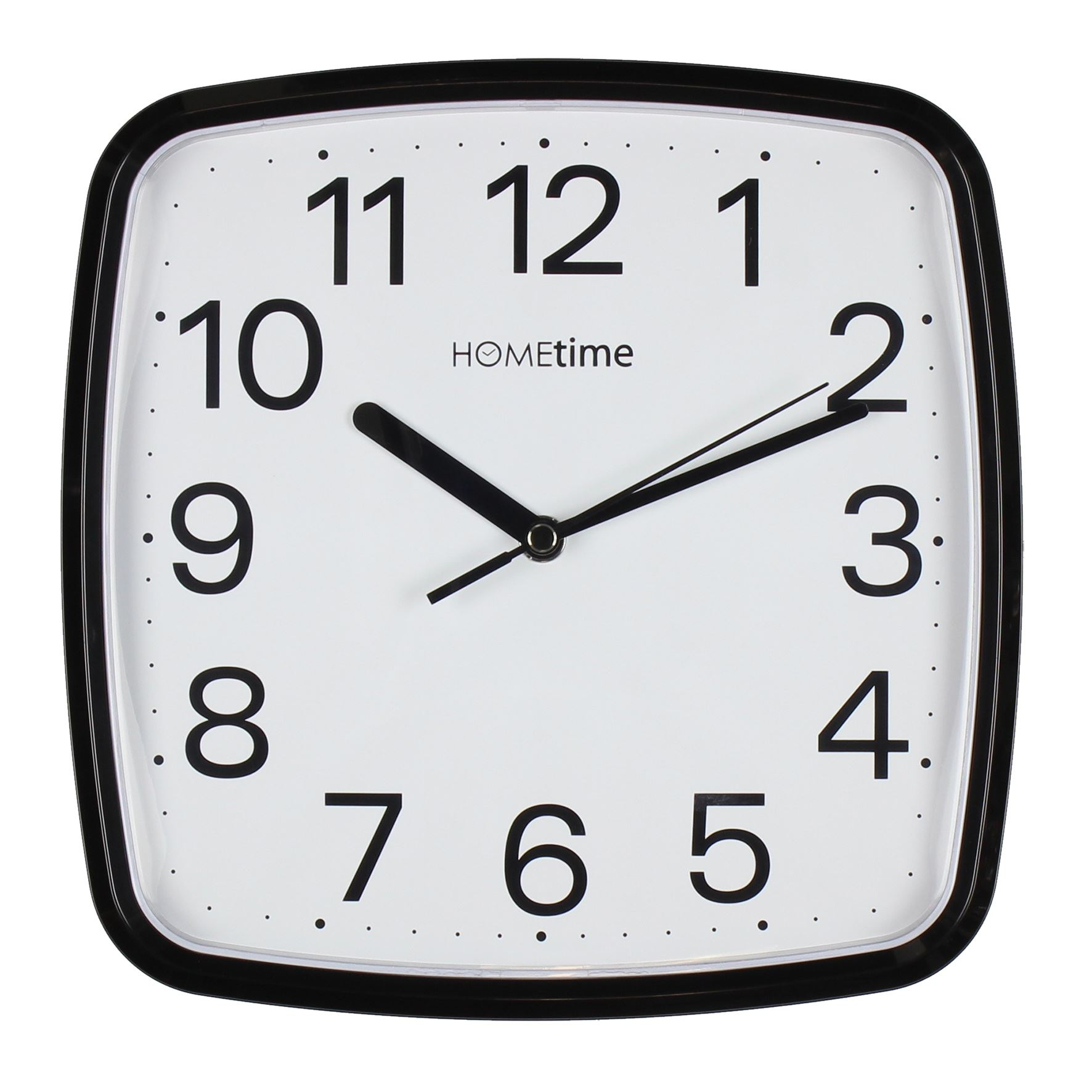 Hometime Plastic Black Wall Clock With Sweep