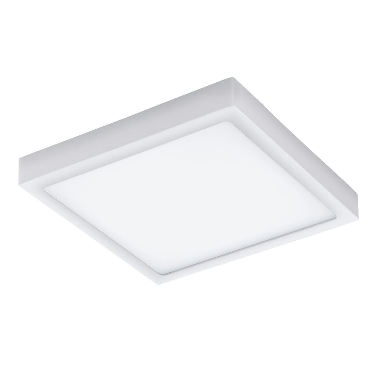 EGLO Angular Ceiling Light Argolis White Led 22W Ip44 Cast Aluminum Led White