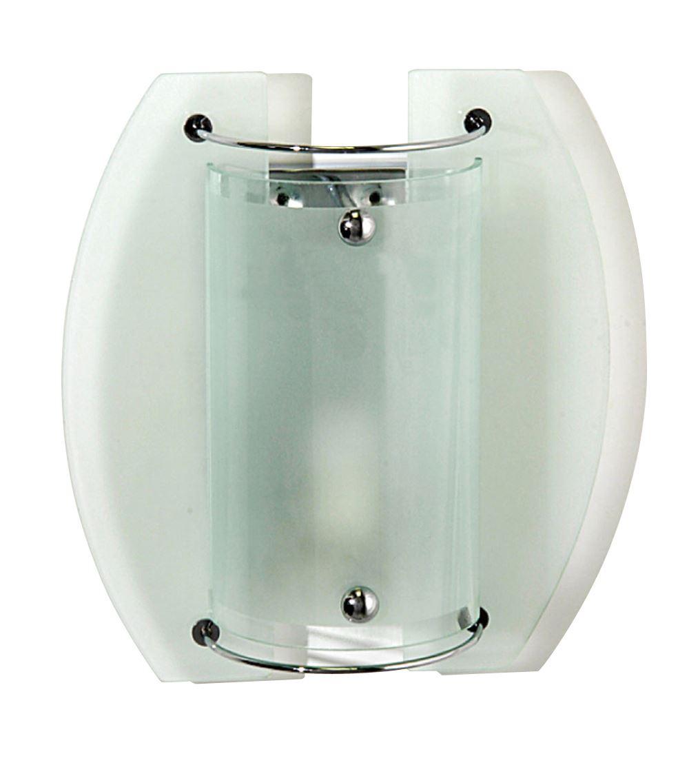 Jive Wall Lamp 1 Light Polished Chrome/Frosted Glass