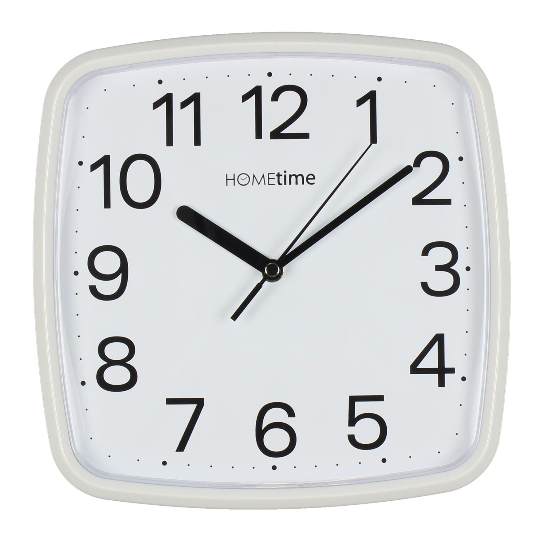 Hometime White Plastic Wall Clock With Sweep