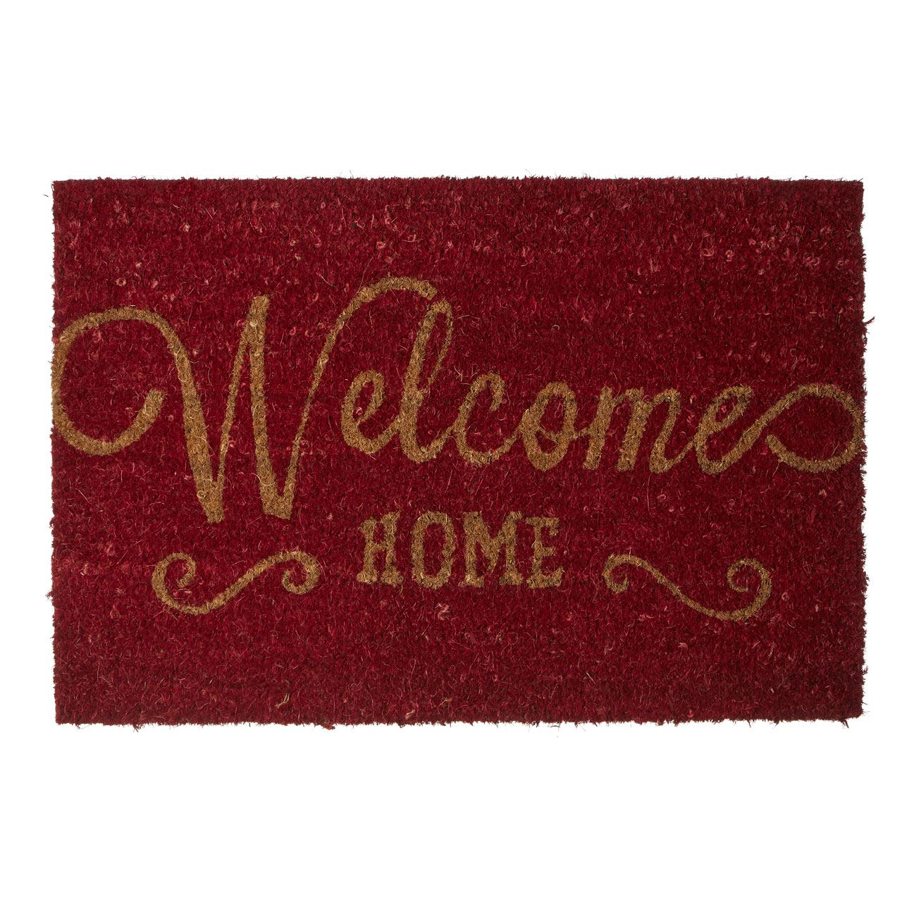 Welcome Home Doormat, Poly Vinyl Chloride Backed Coir