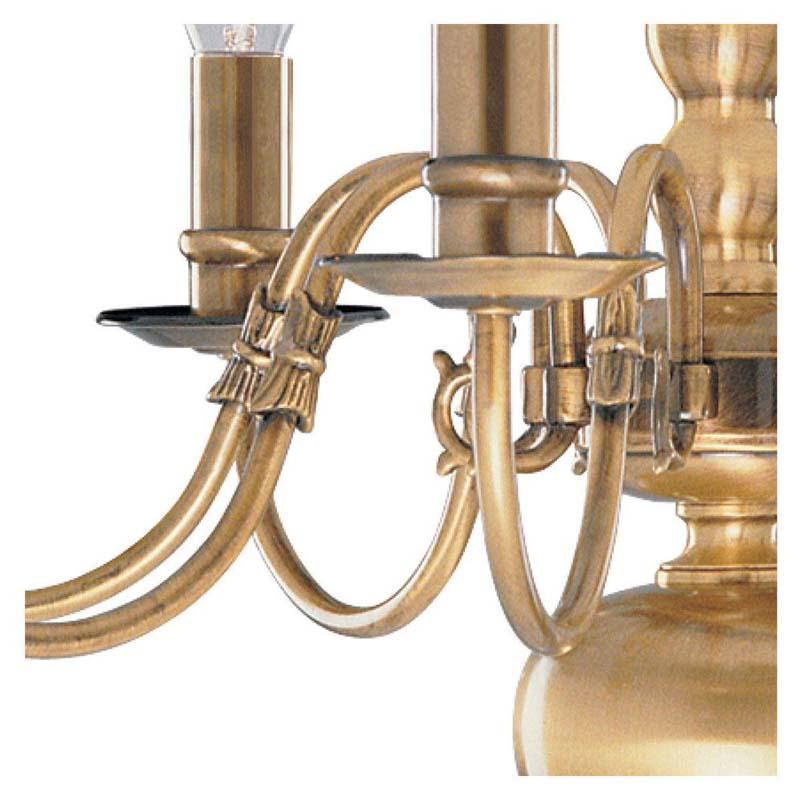 Flemish 8 Light Antique Brass Candle Style Chandelier